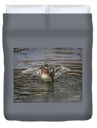 Wood Duck Drake Wing Flap Duvet Cover