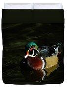 Wood Duck Drip Duvet Cover