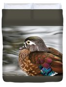Wood Duck Hen Duvet Cover