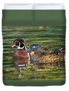 Wood Duck Pair Duvet Cover