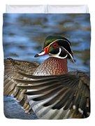 Wood Duck Standing Ovation Duvet Cover