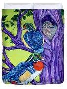 Wood Duck Tree Duvet Cover
