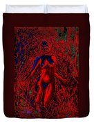Wood Nymph In Red Power Duvet Cover