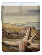 Wood Sand Water And Sky Duvet Cover