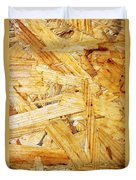 Wood Splinters Background Duvet Cover