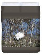 Wood Stork In A Tree Duvet Cover