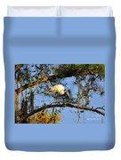 Wood Stork Perch Duvet Cover