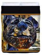 Wooden Bear Sculpture Duvet Cover by Barbara Snyder