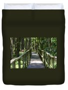Wooden Boardwalk Through The Forest Duvet Cover