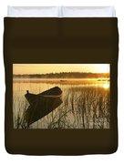 Wooden Boat Duvet Cover by Veikko Suikkanen