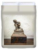 Wooden Buddha Statue Duvet Cover