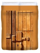 Wooden Door Detail Duvet Cover by Carlos Caetano