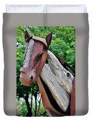 Wooden Horse21 Duvet Cover