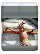 Wooden Jesus Duvet Cover