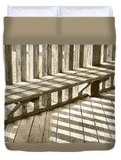 Wooden Lines - Semi Abstract Duvet Cover