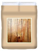 Wooden Panel Duvet Cover by Les Cunliffe