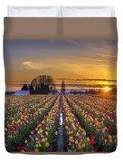 Wooden Shoe Tulip Festival Sunset Duvet Cover