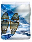 Wooden Snowshoes  Duvet Cover by Bob Orsillo