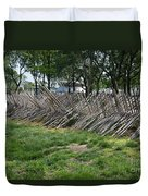 Wooden Spiked Fence Duvet Cover
