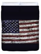Wooden Textured U. S. A. Flag Duvet Cover