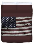 Wooden Textured Usa Flag3 Duvet Cover