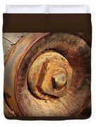 Wooden Wheel Hub Duvet Cover