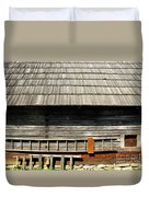 Wooden Window And Roof  Duvet Cover