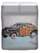 Woodie Station Wagon Duvet Cover