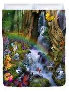 Woodland Forest Fairyland Duvet Cover by Alixandra Mullins