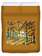 Woodland Sugar Shack By Prankearts Duvet Cover