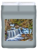 Wateralls In The Woods Duvet Cover