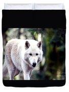 Woodland White Wolf 2 Duvet Cover