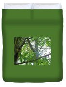 Woodpecker Tree Art Duvet Cover