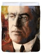 Woodrow Wilson Duvet Cover by Corporate Art Task Force