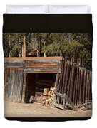Woodshed On The Holzwarth Historic Site Duvet Cover