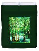 Woodside View Green Duvet Cover