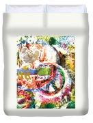Woodstock Original Painting Print  Duvet Cover