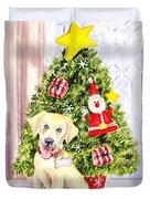 Woof Merry Christmas Duvet Cover