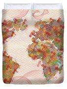 Word Map Digital Art Duvet Cover