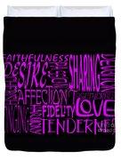 Words Of Love 2 Duvet Cover
