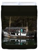 Working Boat Duvet Cover by Bill Gallagher