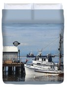 Working Boats Duvet Cover