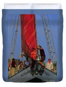 Working The Sails Duvet Cover by Kathleen Struckle