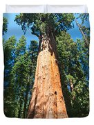 World Famous General Sherman Sequoia Tree In Sequoia National Park. Duvet Cover by Jamie Pham