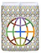 World Globe Earth Travel Graphic Digital Colorful Pattern Signature Art  Navinjoshi Artist Created I Duvet Cover