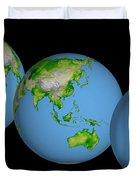 World Globes Duvet Cover