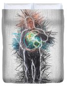 World In His Hands Duvet Cover