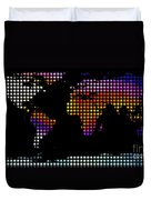 World Map Colourful Dots #2 Duvet Cover