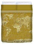 World Map Landmark Collage 10 Duvet Cover