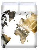 World Map Sandy World Duvet Cover